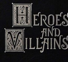 Heroes And Villains - OUAT Medieval Writing Sticker