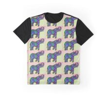 Elephant Carving Graphic T-Shirt