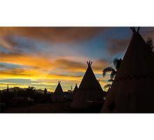 Sunrise at the Route 66 Motel Photographic Print