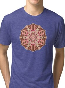 Chocolate Rose - Voronoi Tri-blend T-Shirt