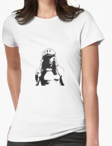 man in cap Womens Fitted T-Shirt