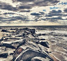 Rocks at Cape May by Kadwell
