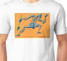 Dance Warrior II  FIST and SPEAR orange Unisex T-Shirt