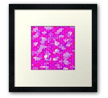 BRICK WALL SMUDGED (Purples, Violets & Fuchsias)-(9000 x 9000 px) Framed Print