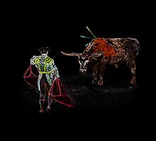 OLE - Bullfighter and El Toro by Gravityx9