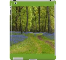 Footpath Through The Bluebell Wood iPad Case/Skin