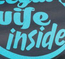 Intriguing Sign on a Car Sticker