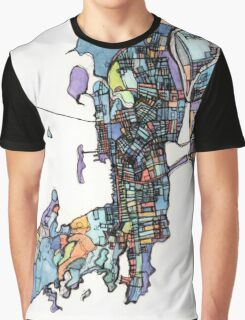 Abstract Map of Newport RI Graphic T-Shirt