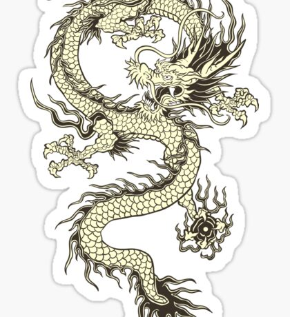 CHINESE DRAGON GOLD Sticker