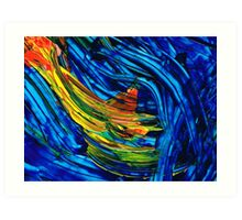 Colorful Abstract Art - Energy Flow 5 - By Sharon Cummings Art Print