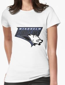 Windhelm Stormcloaks Basketball Logo Womens Fitted T-Shirt