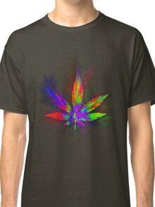 Colourful Weed Leaf Classic T-Shirt