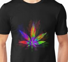 Colourful Weed Leaf Unisex T-Shirt