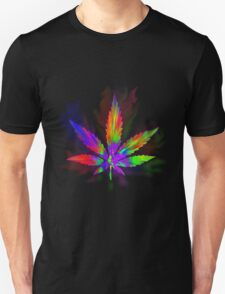 Colourful Weed Leaf T-Shirt