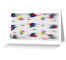 Blur of Colors Greeting Card
