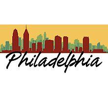 Philadelphia Pennsylvania Skyline Photographic Print