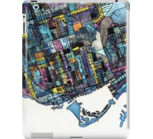 Abstract Map of Toronto Ontario iPad Case/Skin