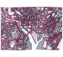 Abstract Map of Washington DC Poster
