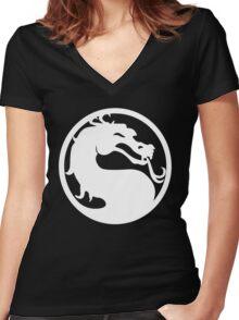 Mortal Kombat Women's Fitted V-Neck T-Shirt