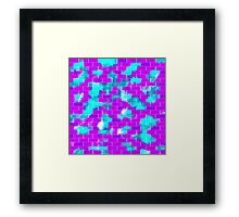 BRICK WALL SMUDGED (Purples, Violets & Turquoise)-(9000 x 9000 px) Framed Print