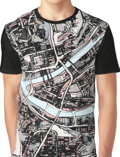 Abstract Map of Pittsburgh PA Graphic T-Shirt