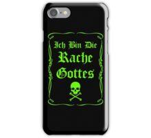 Ich bin die Rache Gottes - Grün iPhone Case/Skin