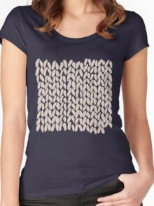 Half Knit Ombre Nat Women's Fitted Scoop T-Shirt
