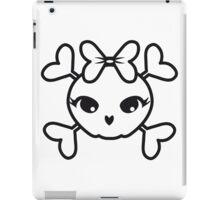 Skull girl funny sweet iPad Case/Skin