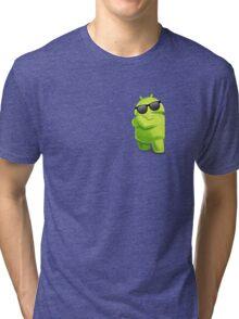 android sunglasses cool programming logo Tri-blend T-Shirt