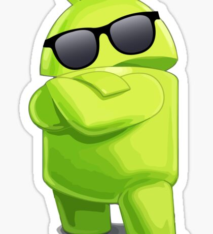android sunglasses cool programming logo Sticker
