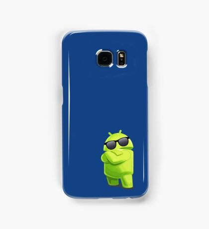 android sunglasses cool programming logo Samsung Galaxy Case/Skin