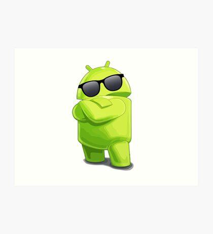 android sunglasses cool programming logo Art Print