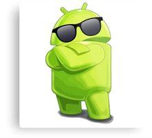 android sunglasses cool programming logo Metal Print