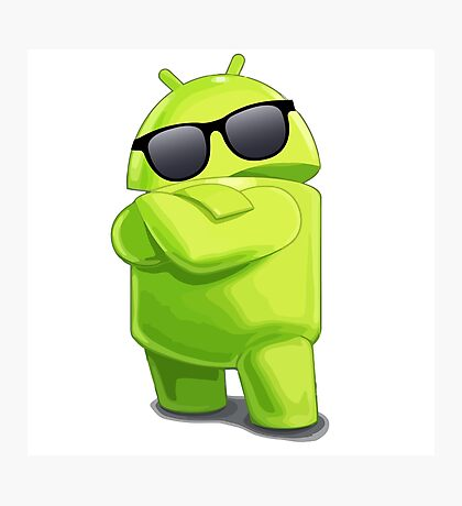 android sunglasses cool programming logo Photographic Print