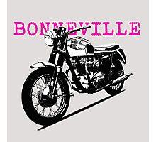 The Vintage Bonneville Motorcycle Photographic Print