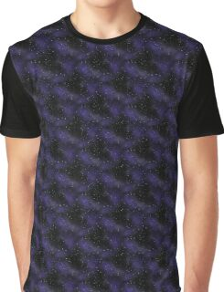 Seamless Blue Contrast Space Design Graphic T-Shirt