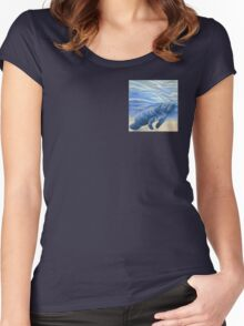 Manatee 5x5 Colored Pencil Drawing Women's Fitted Scoop T-Shirt