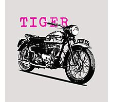 The Vintage Tiger Motorcycle Photographic Print
