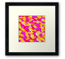BRICK WALL SMUDGED (Reds, Oranges, Yellows & Fuchsias)-(9000 x 9000 px) Framed Print