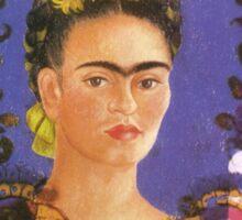 Self Portrait The Frame by Frida Kahlo Sticker