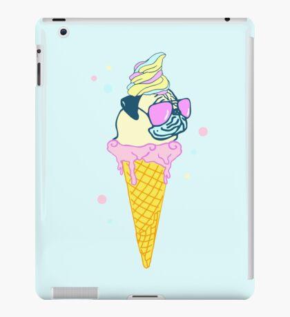 ice cream pug - 2 iPad Case/Skin