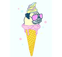 ice cream pug - 2 Photographic Print