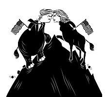 Donald Trump vs. Hillary Clinton editorial cartoon Photographic Print