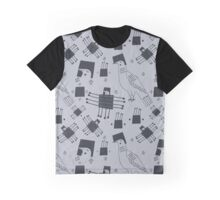 Monochrome graphic pigeons Graphic T-Shirt