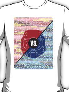 Red Vs. Blue T-Shirt