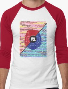 Red Vs. Blue Men's Baseball ¾ T-Shirt