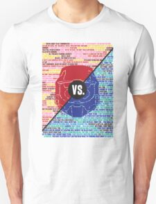 Red Vs. Blue Unisex T-Shirt