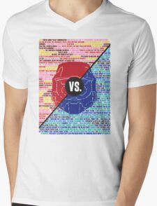 Red Vs. Blue Mens V-Neck T-Shirt