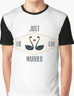 Just Married True Love Graphic T-Shirt