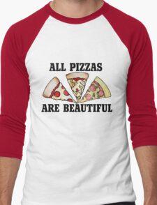 All pizza are beautiful Men's Baseball ¾ T-Shirt